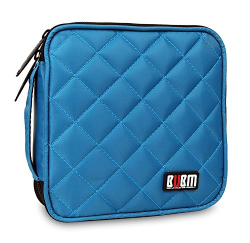 bubm-portable-water-resistant-32-disc-cd-dvd-vcd-dj-storage-media-holder-case-with-carry-handle-blue