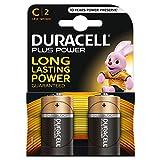 Duracell Plus Power Batterie alcaline, Mezzatorcia, C, Confezione da 2