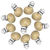 Zerodis Holz Schnullerclip für Schnullerkette Babys Kinderpflege Spielzeug Kreativ 10 Stücke(Gold)