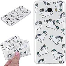 Beiuns para Samsung Galaxy J5 (2016) / J5 (2016) Duos (5,2 pulgadas)(No para Samsung Galaxy J5 2015) Carcasa de TPU y silicona Funda - HX520 unicornio