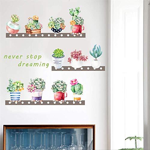 Kaktus Topf Pflanze Wand Aufkleber Home Decor Wohnzimmer Sofa Hintergrund DIY Wand Decals PVC Wandbild Kunst Poster ()