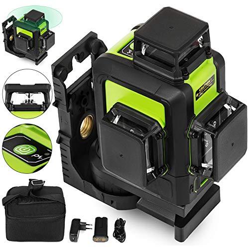 BananaB 903CG grün laser kreuzlinienlaser 3D linienlaser selbstnivellierend 360 Rotary Laser Level baulaser 360° Rotary 12-Linie Linienlaser Tool