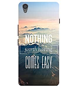 Citydreamz Nothing Worth Having Comes Easy\Quotes Hard Polycarbonate Designer Back Case Cover For Sony Xperia M4 Aqua/ M4 Dual Sim