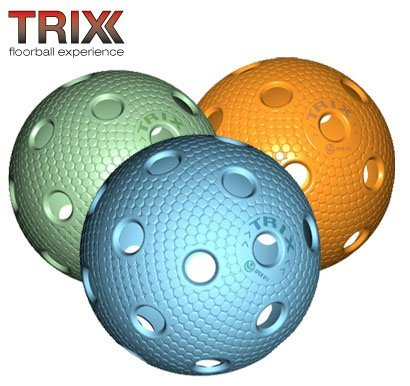 Produktbild TRIX Unihockey / Floorball Ball 3er Pack MATCHBALL COLOR MIX