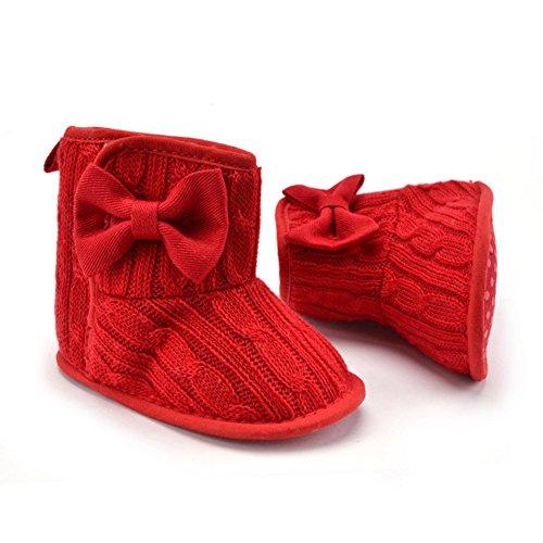 La Cabina Chaussures Bébé Fille garçon -Chaussure Bébé Fille Garçon Premier Pas -Chaussures Souples Confortable - Chaussures Antiglisse pour Hiver Printemps (0-18 mois ) (12-18 mois, 06) 02