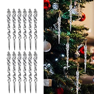 Carambanos Navidad, Funpa 24pcs Decoraciones