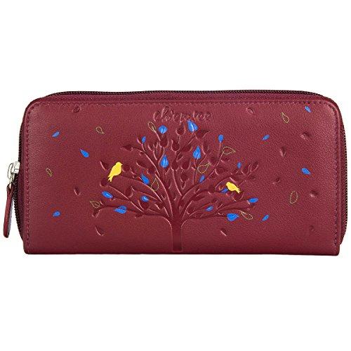 Chiemsee Chiemsee Tree Portafoglio pelle 19 cm wine red