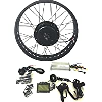 "48V1200W Hub Motor Ebike Bicicleta ELÉCTRICA KIT DE CONVERSIÓN 4.0 Fat Rim + LCD + Tire Theebikemotor (26"" x 4.0 Front Fat Wheel)"