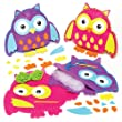 Owl Cushion Felt Sewing Kits for Children to Make Decorate & Display or Offer as a Creative Gift (Pack of 2)