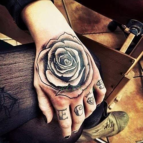 5 stücke Wasserdichte tatoo Tattoo femme Aufkleber Blume Rose Superman Gefälschte Tatto Flash Tatoo handrücken Fuß Tato für Mädchen Frauen Männer