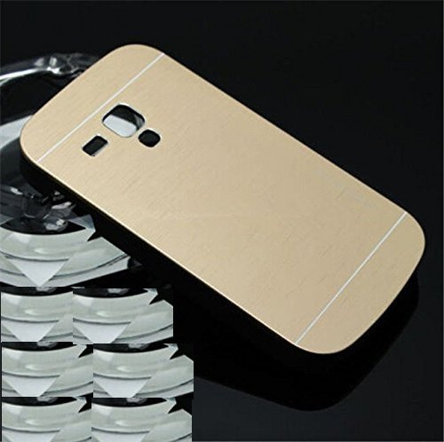 Wait N Watch Royal Brushed Metal Protective Back Case Cover For Samsung Galaxy S Duos GT-S7562 (CANARY GOLD)  available at amazon for Rs.169