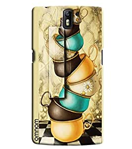 Omnam Painted Kitchen Utensils Line Printed Designer Back Cover Case For One Plus One