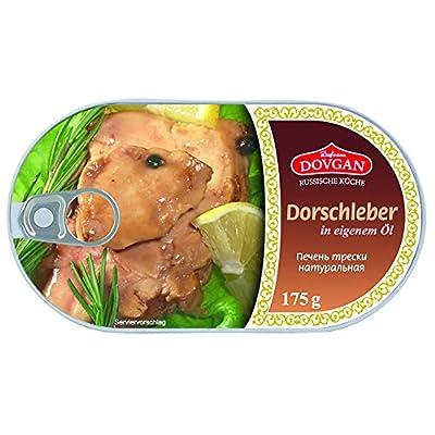 Dovgan Dorschleber im eigenen Öl, Dose, 4er Pack (4 x 175 g)
