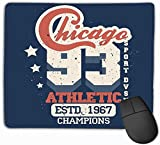 fghjdfcnfd Mouse Pad Sport Stamp Chicago Graphic Set wear Typography Emblem Vintage Athletic Apparel Design Print Rectangle Rubber Mousepad 11.81 X 9.84 Inch