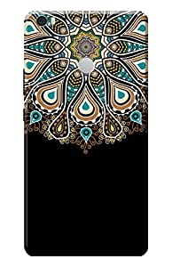 Kanvas Cases Printed Back Cover For Xiaomi Mi Max (Pattern 202) With Mobile Viewing Stand