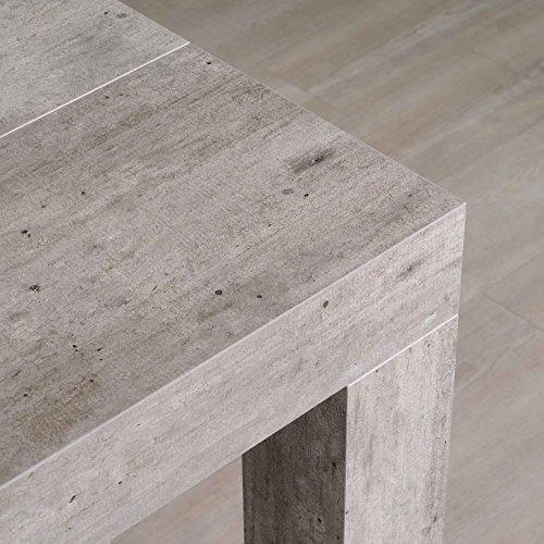 Icreo tavolo consolle allungabile modello atena cemento cm 46/306x90 h75 in truciolare melaminico di qualità con 5 allunghe cm 52. prodotto interamente italiano