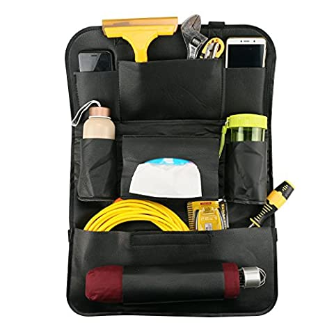 GOGOLO 1PCS Seat Back Car Organiser with Tablet Holder Pu Leather Back Seat Protectors for Kids, Storage Bottles, Tissue Box, Toys, Tablet,