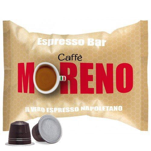 CAFFE' MORENO 700 CIALDE CAPSULE MISCELA ESPRESSO BAR COMPATIBILITA' NESPRESSO
