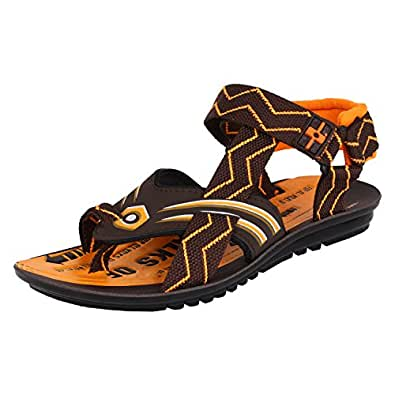 Bersache Men's Orange Sandal & Floaters (10 UK)