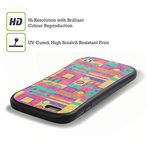 Ufficiale Shelly Bremmer Blu Geometrico Case Ibrida per Apple iPhone 7 Plus / 8 Plus Scatole