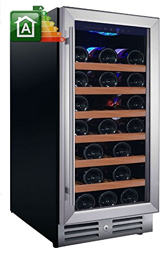 Nevada Cantina vino NW33S-S con porta classic inox da 37,5cm