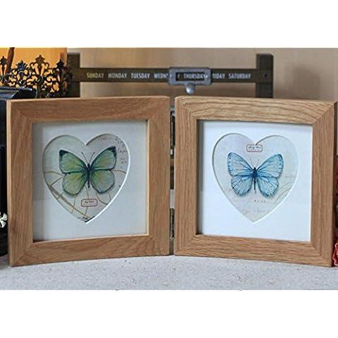 GYN Moderna moda semplice due forme delle cornici a forma di cuore di combinazione per 16,2 * 16,2 cm tavolo foto Home Decor Living Room accessori