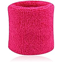 Hommes Femmes Sport Sweatband Tennis Squash Badminton éponge poignet Sweat Bands Basketball Gym Wristband Wrist Wraps