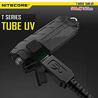 ADAALEN Nitecore T Sireis Tube UV 500mW 365nm USB Rechargeable LED Keychian Light