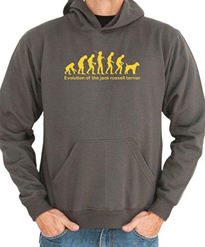 Felpa con Cappuccio EVOLUTION OF THE Jack Russell Terrier