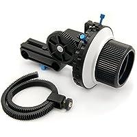 eimo Pro DSLR Follow Focus avec ceinture anneau de vitesse pour appareils reflex et caméscopes (F3 avec deux disques arrêts)