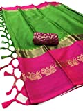#6: Fashionesta Latest Women Cotton Silk Saree with Extra Broket Blouse(9 COLOR)