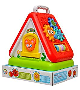 Toyshine Funny House with Multi-Purpose Learning, Numbers, Shapes, Colors, Letters (Multicolour)