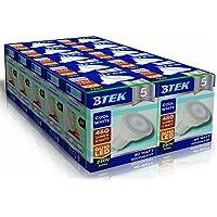 BTEK® 10PC GU10 6W LED Luce Bianca Fredda AC 230V 50 Hz 480LM 40W luce del punto lampadine a risparmio energetico lampade ad alta potenza Alogena da angolo di diffusione di 120º