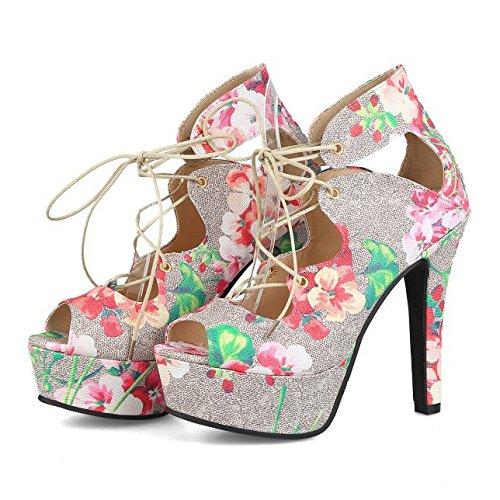 Frauen Extrem Hohe Plattform Blumen Peep Toe Pumps Hochzeit Kleid Stiletto Slip On Schuhe,Pink-EU39=245 Pink Toe Pumps