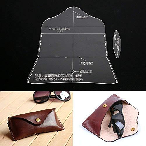 PANINA Leder Handwerk Sonnenbrille Tasche Brillenetui Acryl Schablone