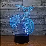 Nachtlicht LED Fahrrad 3D Lampe 7 Farben Led Nachtlampe Touch Led Usb Tisch Lampara Lampe Schlafen Nachtlicht Freunde Spiel Geschenk