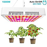 GREENSINDOOR LED Pflanzenlampe Vollspektrum 1000w LED Grow Light Full Spectrum LED Pflanzenlicht mit Zeitschaltuhr für Zimmerpflanzen Gemüse und Blumen