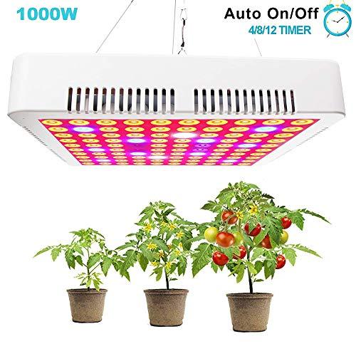 GREENSINDOOR LED Pflanzenlampe Vollspektrum 1000w LED Grow