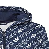 adidas Jungen Trefoil Monogram Hoodie, Collegiate Navy/White, 164