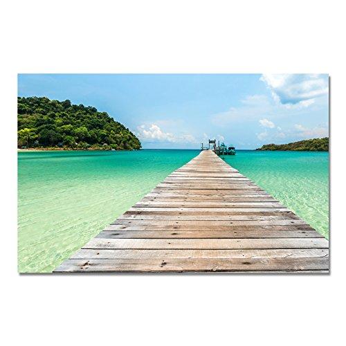 PixiPrints Design Poster Druck auf Echtem Fotopapier - Strand/Meer / Palmen/Urlaub, Design:Design 6, Format & Größe:70 x 50 cm | Rahmenformat