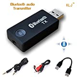 KANGLONJIA Bluetooth Transmitter, Drahtloser Beweglicher Stereo Musik Sender USB Dongle Audio Adapter Für Audiogeräte TV, Kopfhörer, PC, Laptop, Tablet, MP3 / MP4, iPod, Media-Player(TX9)