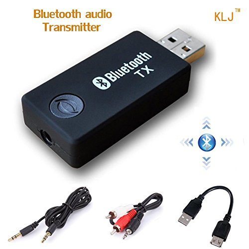 USB Transmisor Bluetooth, kanglongjia Portátil Inalámbrico Música Adaptador Transmitter Estéreo 3.5mm para...