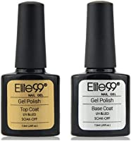 Elite99 Base y Top Coat Semipermentes, Esmaltes Semipermanentes de Uñas en Gel UV LED Gel Soak Off
