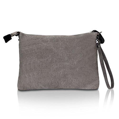 8e8fb4cc3aa09 ... Glamexx24 Damen Clutches Tasche Handtaschen Schultertasche Umhängetasche  mit Stern Muster Tragetasche TE201615 7DunkelGrau ...