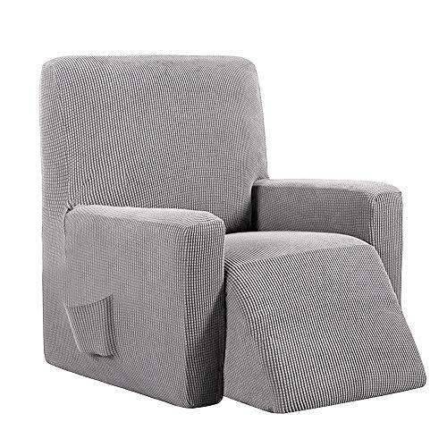 Lovestory copripoltrona poltrona reclinabile relax completo elasticizzato con tasche universale (grigio chiaro)