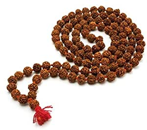 SSG Collections | Rudraksha Mala/ Rosary String For Wearing, Jaap/Chanting or Pooja, 108+1 Beads of 6mm Size | 100% Natural & Original Maala |