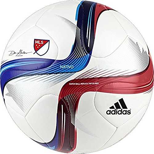 Adidas MLS Top Glider Fußball, 2015: White/Power Red/Solar Blue Mls-ball