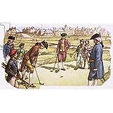 """Alu-Dibond-Bild 120 x 70 cm: """"Golf being played in St Andrews in the 18th century"""", Bild auf Alu-Dibond"""