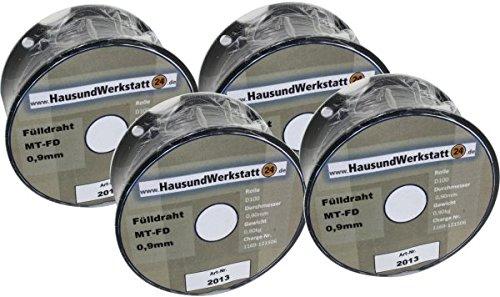 Fülldraht 4 Rollen x 0,9mm 0,8 Kg für Güde Rowi u.a.