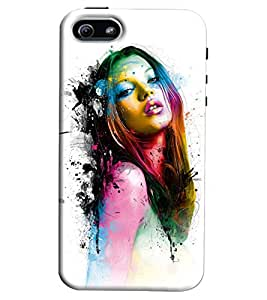 Clarks Girl Inspird Hard Plastic Printed Back Cover/Case For Apple iPhone 5/5S